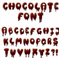 巧克力字母