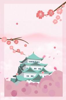 日本名古屋背景海报