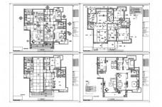 欧式风格住宅CAD施工图纸