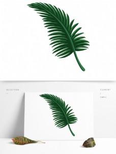 卡通绿色叶子装饰素材
