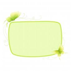 绿色蝴蝶装饰插画