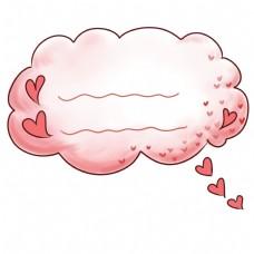 卡通心形气泡框插图