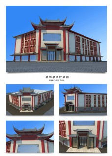 屋檐式中国风建筑