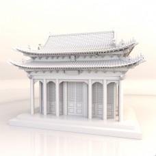 中国古建筑皇宫精细模型之听雨阁