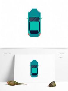 扁平化绿色汽车素材