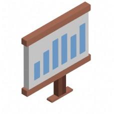 办公室展示表文件商业插画PNG扁平风格