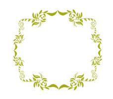 绿色古典花纹边框