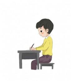 卡通人物系列   读书写字