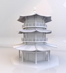 中国古建筑楼阁模型