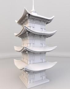 中国风古典建筑塔楼