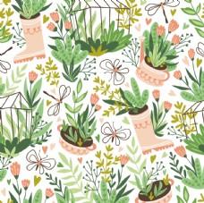 植物休闲风涂鸦