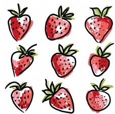草莓涂鸦可爱小图案