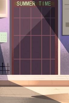 卡通装饰窗户免抠图