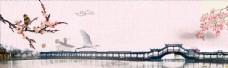 中国风山水刺绣花鸟图