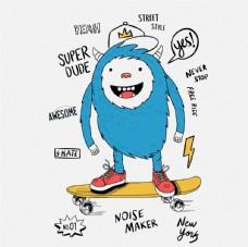 怪兽卡通 可爱卡通形象