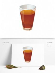 手绘卡通果汁饮料杯PNG素材