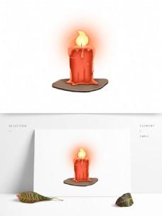 蜡烛花灯祈祷UI古风元素