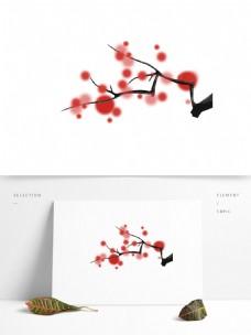 中国风水墨花朵梅花元素