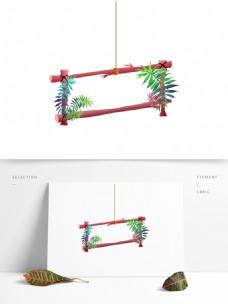 电商植物热带树木边框元素