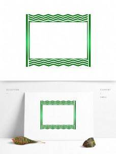 绿色夏季渐变边框元素