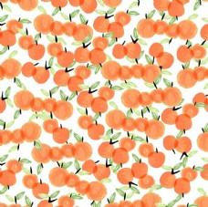 苹果樱桃涂鸦儿童画平铺图