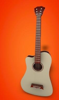 吉他建模渲染图