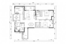 CAD大平层户型CAD方案