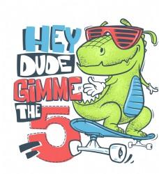 滑板恐龙太阳镜卡通形象