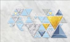 大理石抽象几何背景墙