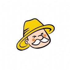 卡通农名伯伯头像