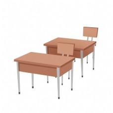 木质学习书桌插画