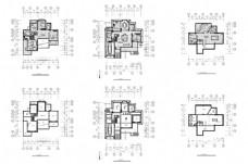 欧式豪华别墅户型CAD施工图纸