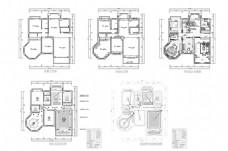 大户型豪华欧式CAD施工图纸