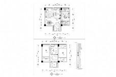 跃层户型欧式风格CAD施工图