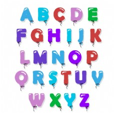 创意糖果气球字母