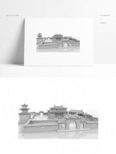 中国风古建筑小院子