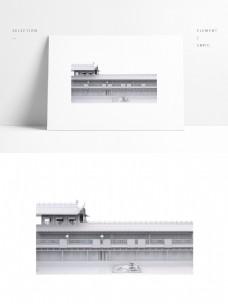 中国风古建筑厢房