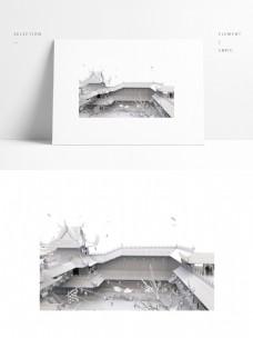 中国古建筑小院模型
