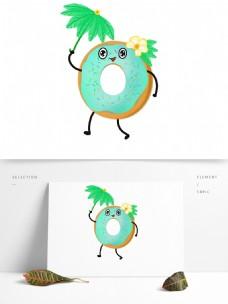 原创卡通甜甜圈夏日元素