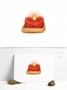 蜡烛花灯祈祷心形UI古风元素