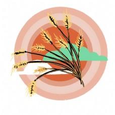 创意麦穗插图