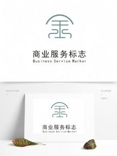商业服务标志logo