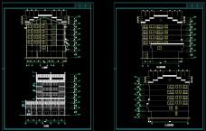 七层住宅楼中式徽派风格建筑CAD