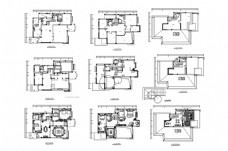 别墅欧式豪华装修CAD施工图