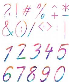 抽象创意数字