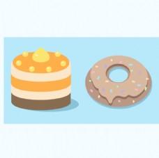 黄桃芝士和甜甜圈