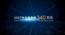 蓝色科技感企业数据字幕展示AE