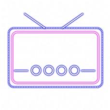 电商霓虹灯电视机边框