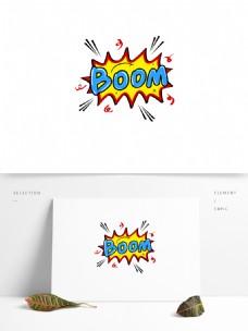 boom手绘撞色涂鸦文字