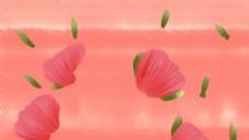 简约手绘花朵背景图